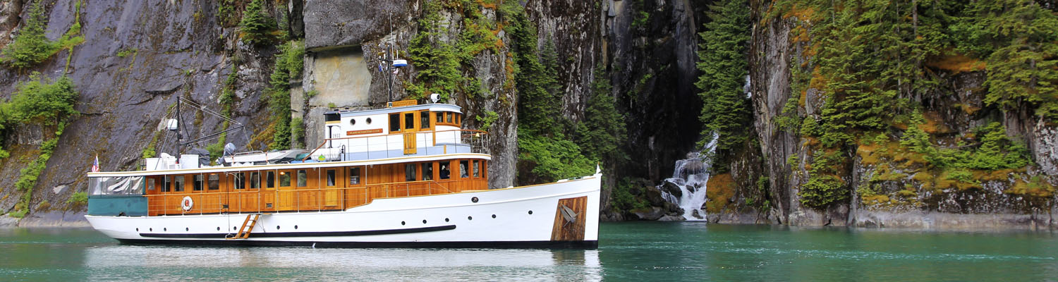 Alaska yacht charters small cruise ship classic yacht MV Discovery Fords Terror