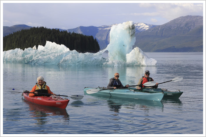 Kayaking, Alaska, Tracy arm, glacier