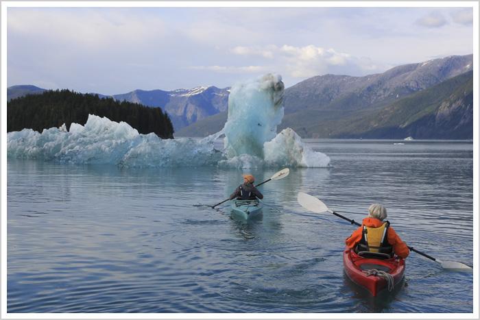 Kayaking, Alaska, glaciers, icebergs