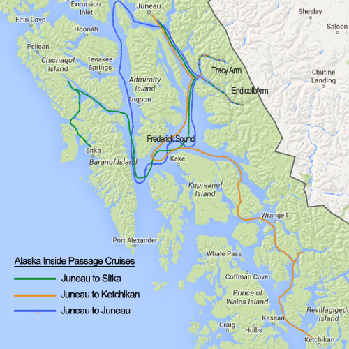Alaska Inside Passage cruise Itinerary: Glaciers to the Sea